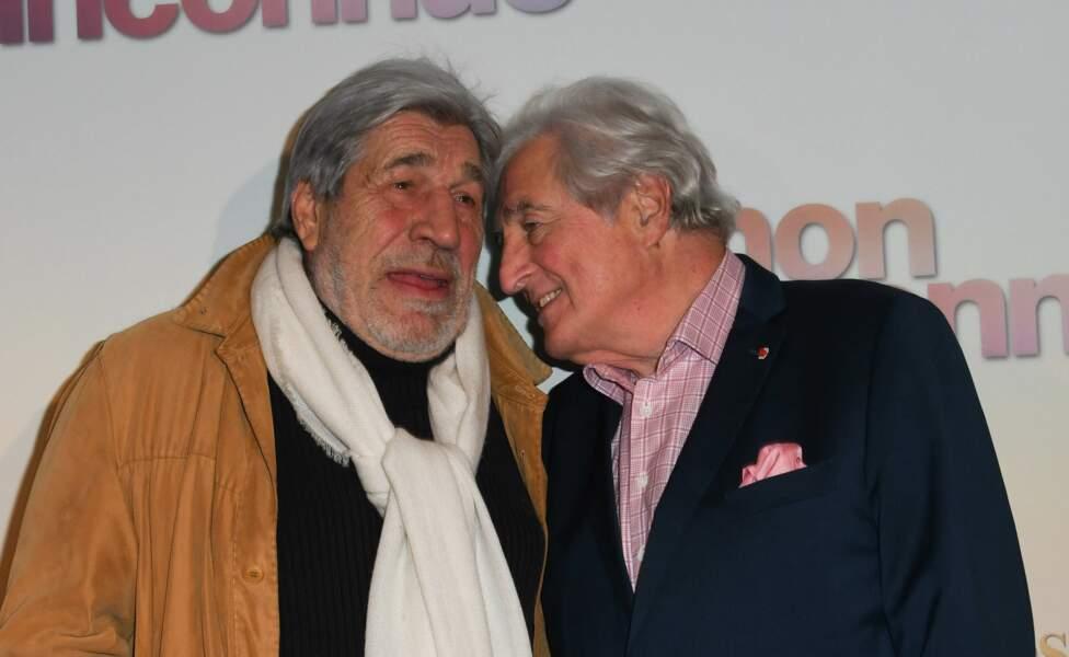 Jean-Pierre Castaldi et Jean-Loup Dabadie à l'avant-première de Mon Inconnue, le 1er avril, à Paris