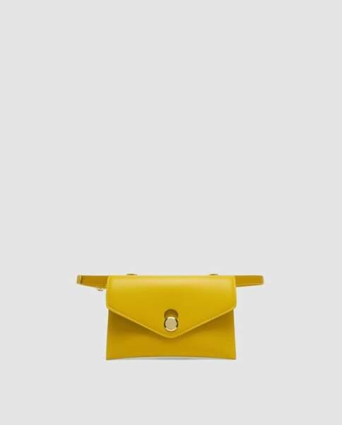 Le retour du sac banane : Sac banane jaune, Zara, 15,95 euros