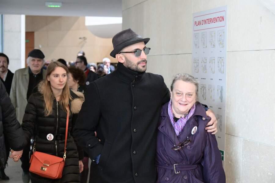 Déborah François et JR à l'hommage à Agnès Varda