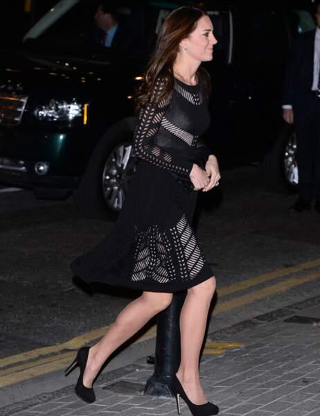 Kate Middleton arrive au gala Action of addiction à L'Anima Restaurant