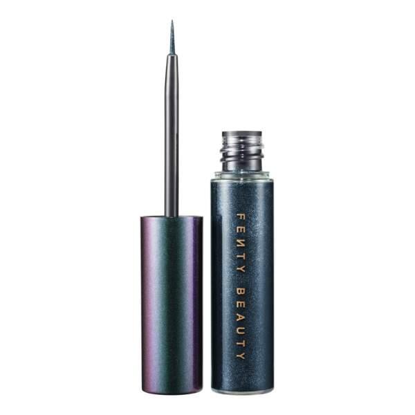 50 façons de briller : Eyeliner liquide pailleté teinte alien bae, Fenty Beauty, 18,95 euros