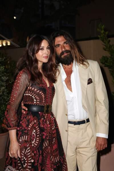 Monica Bellucci et Nicolas Lefebvre au dîner Dior et Vogue lors du Festival de Cannes