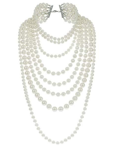 Collier en perle, 25€, Topshop