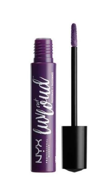 Ultra-Violet : Luv out loud rouge à lèvres liquide Brave, NYX Professional, 7,90 euros