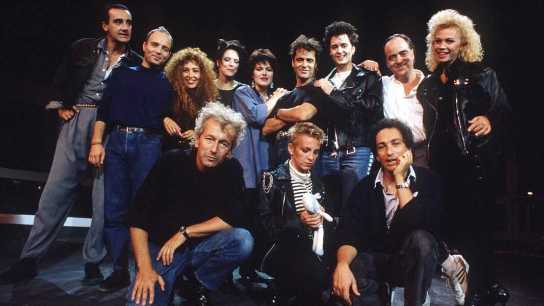 La troupe de Starmania en 1988