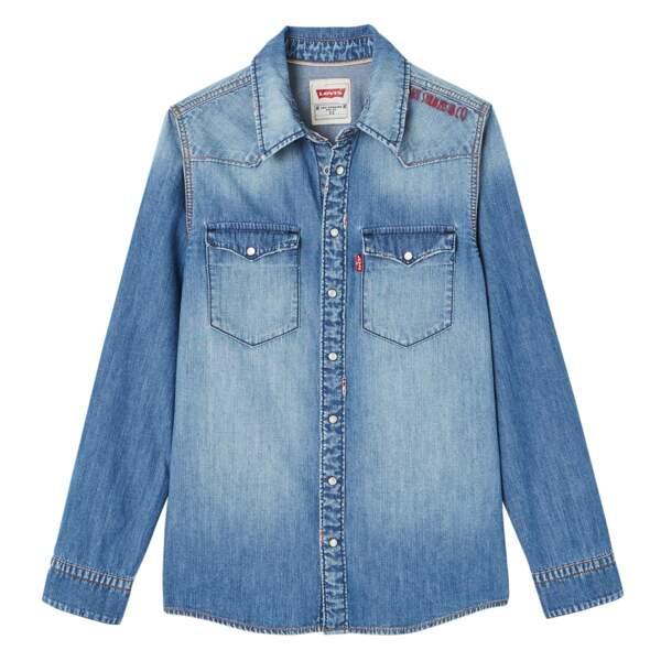 Chemise en jean. 100% coton, du 8 au 18 ans, à partir de 70 €, Levi's Kids