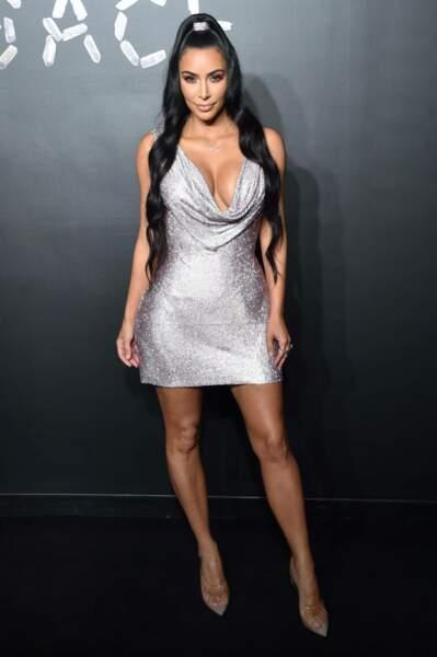 Kim Kardashian au défilé Versace, le 2 décembre 2018, à New York