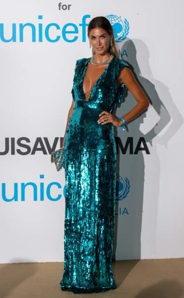 Melissa Satta, au gala de l'UNICEF en Sardaigne, le 10 août 2018