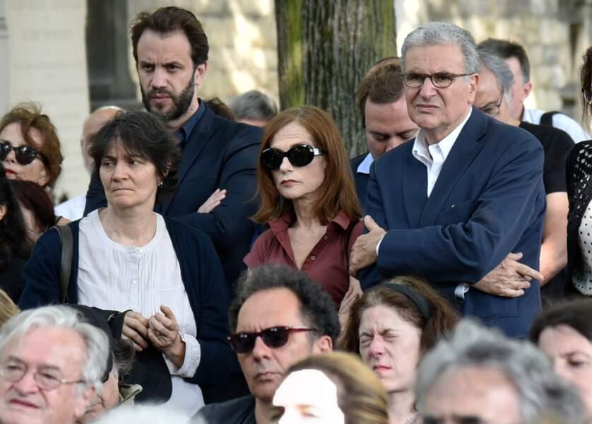 Obsèques de Claude Lanzmann au cimetière du Montparnasse : Isabelle Huppert