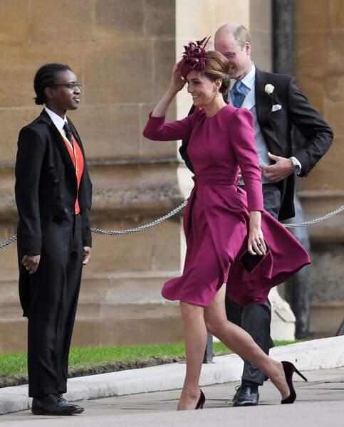 Kate Middleton et le prince William au mariage de la princesse Eugenie et Jack Brooksbank
