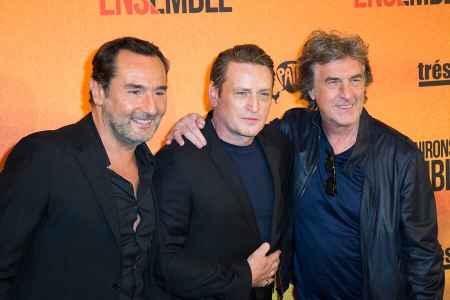 Gilles Lellouche, Benoît Magimel et François Cluzet à l'avant-première de Nous finirons ensemble le 29 avril 2019