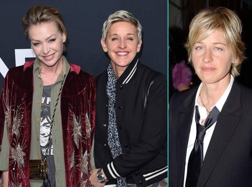 Ellen DeGeneres aujourd'hui à 58 ans et à 43 ans, l'âge actuel de sa femme Portia de Rossi