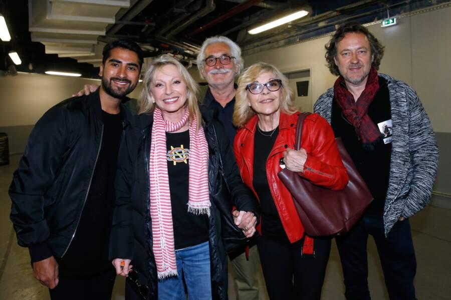 Véronique Sanson avec son compagnon Christian Meilland, Nicoletta, Christophe Molinier, Michel Polnareff
