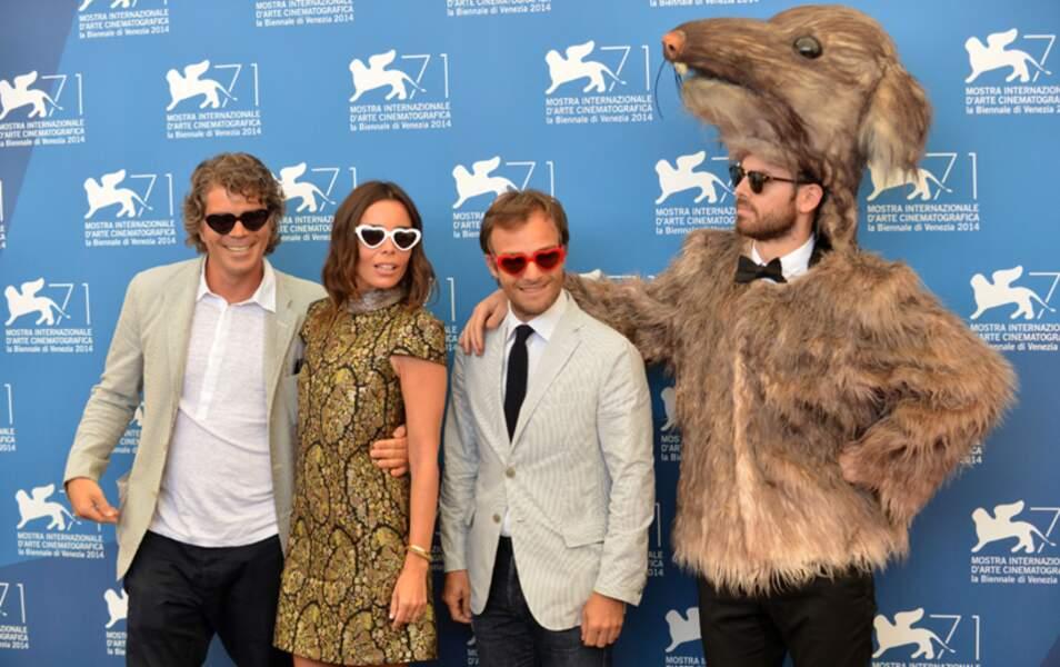 Sympa ce remake de Ratatouille (Grégory Bernard, Élodie Bouchez, Jonathan Lambert et l'homme rat)