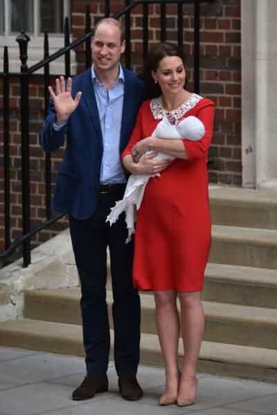 Présentation officielle du prince Louis, le 23 avril 2018
