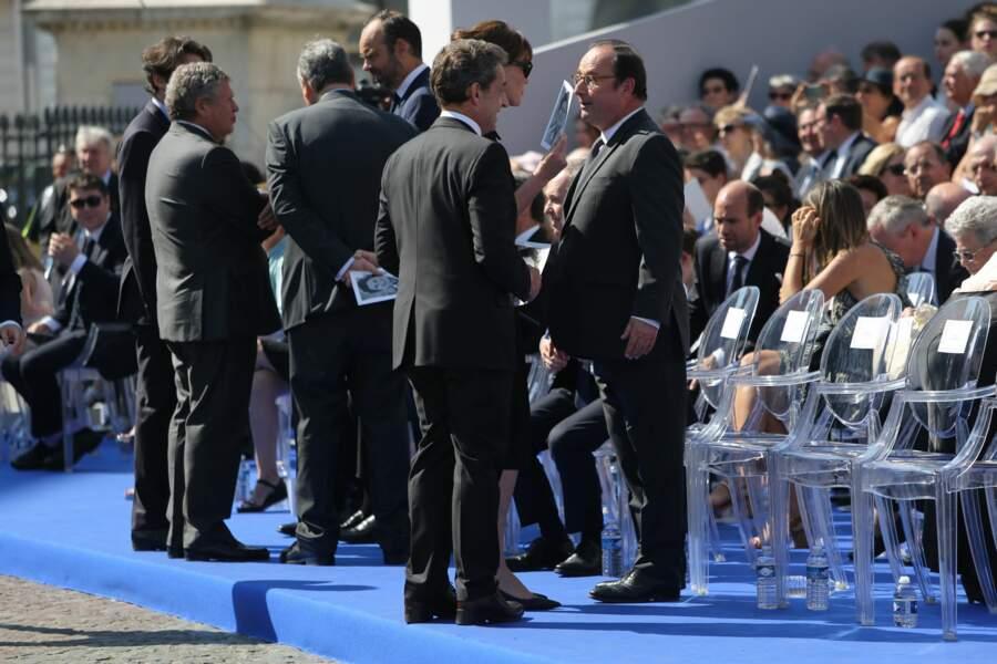 Cérémonie d'entrée de Simone Veil au Panthéon : Nicolas Sarkozy et François Hollande
