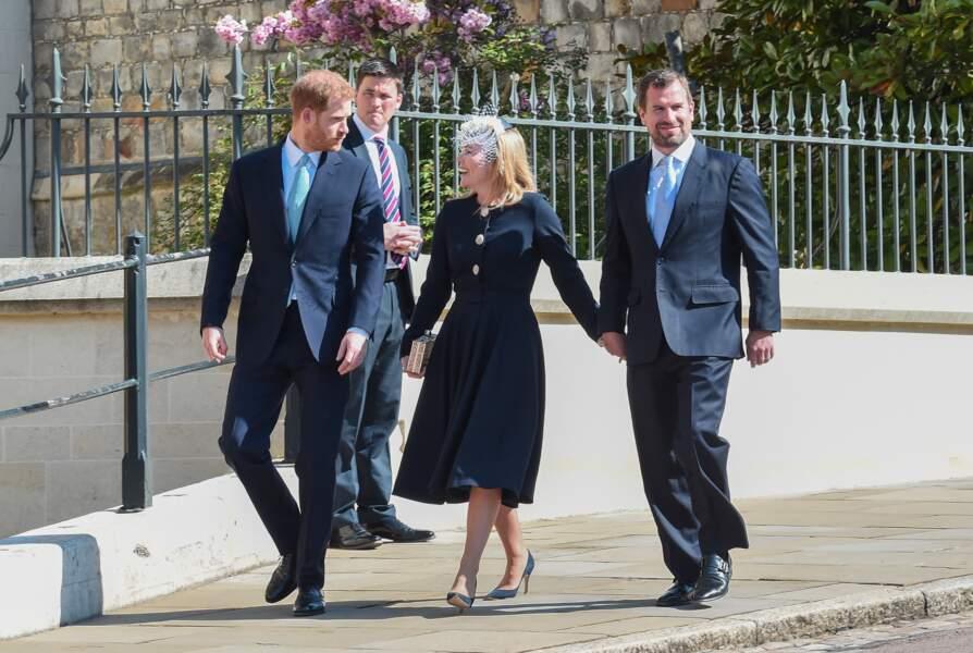 Le prince Harry, duc de Sussex, Peter Phillips et Autumn Phillip