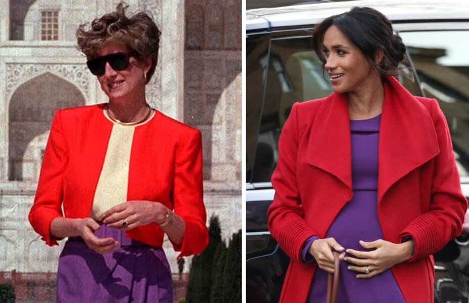 Comparaison entre les tenues de Meghan Markle et de Lady Di