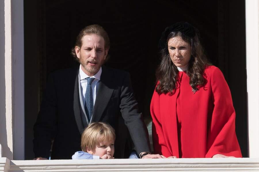 Fête nationale à Monaco - Andrea Casiraghi, sa femme Tatiana Santo-Domingo et leur fils Sacha