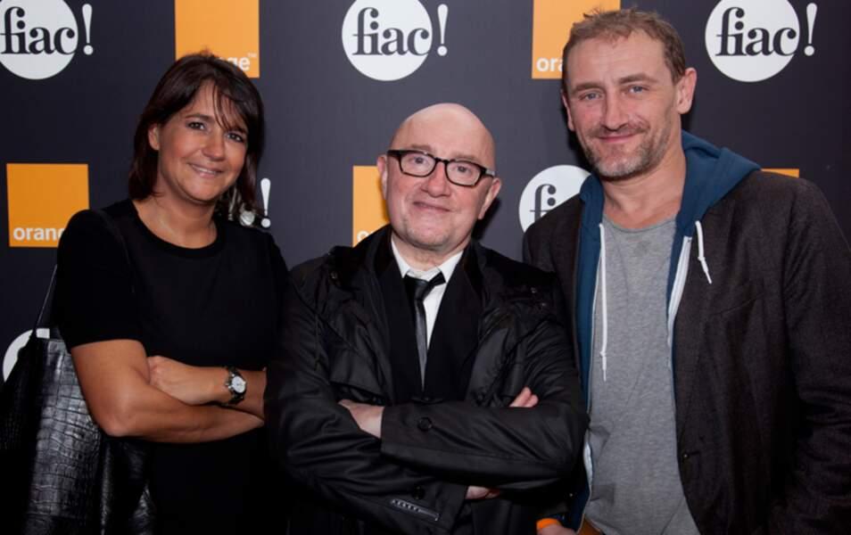 Valérie Expert, Michel Blanc et Jean Paul Rouve au salon Orange