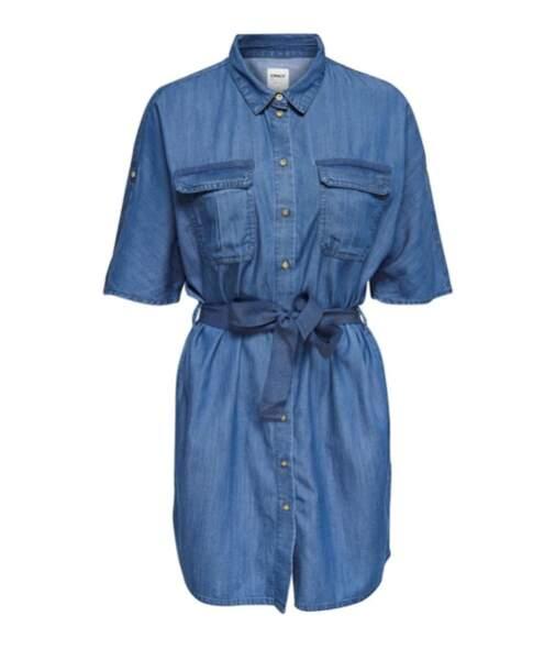 Robe chemise avec ceinture à nouer, La Redoute, 49,99€