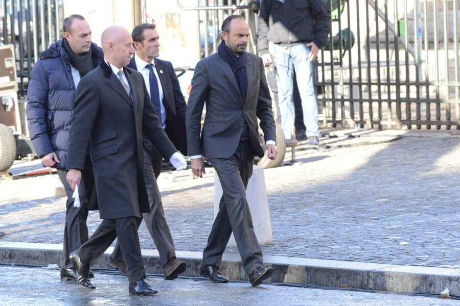 Les politiques présents lors de l'hommage à Johnny Hallyday : Edouard Philippe