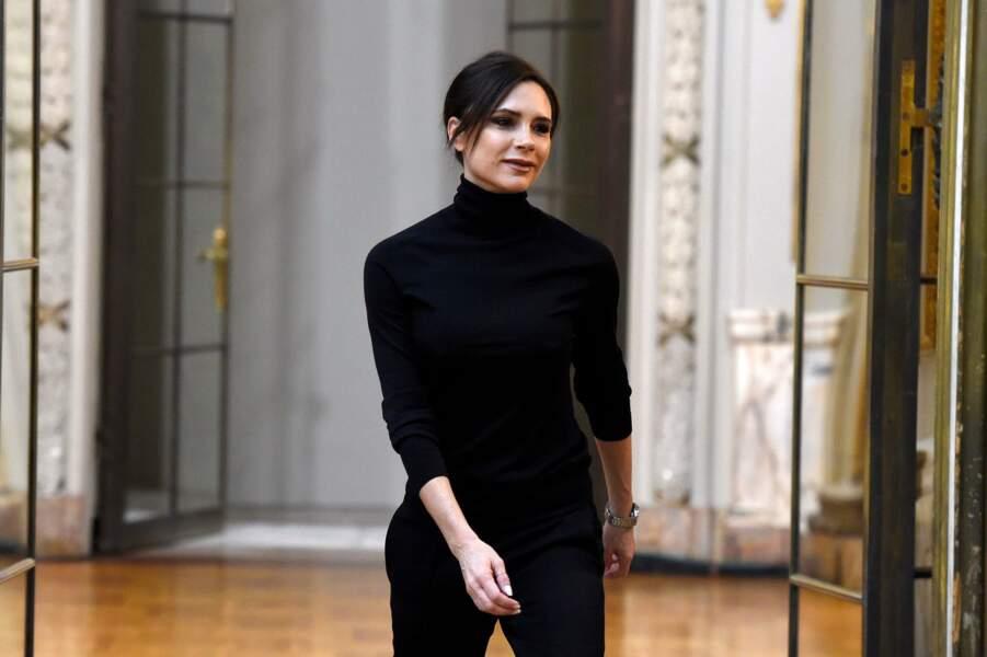 Victoria Beckham à la fashion week de New York, le 11 février 2018