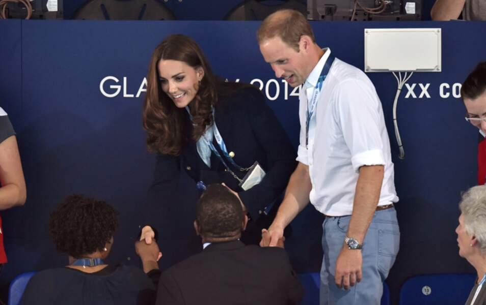 Pour leur visite aux Jeux du Commonwealth à Glasgow, Kate et William ont assisté à de nombreuses épreuves