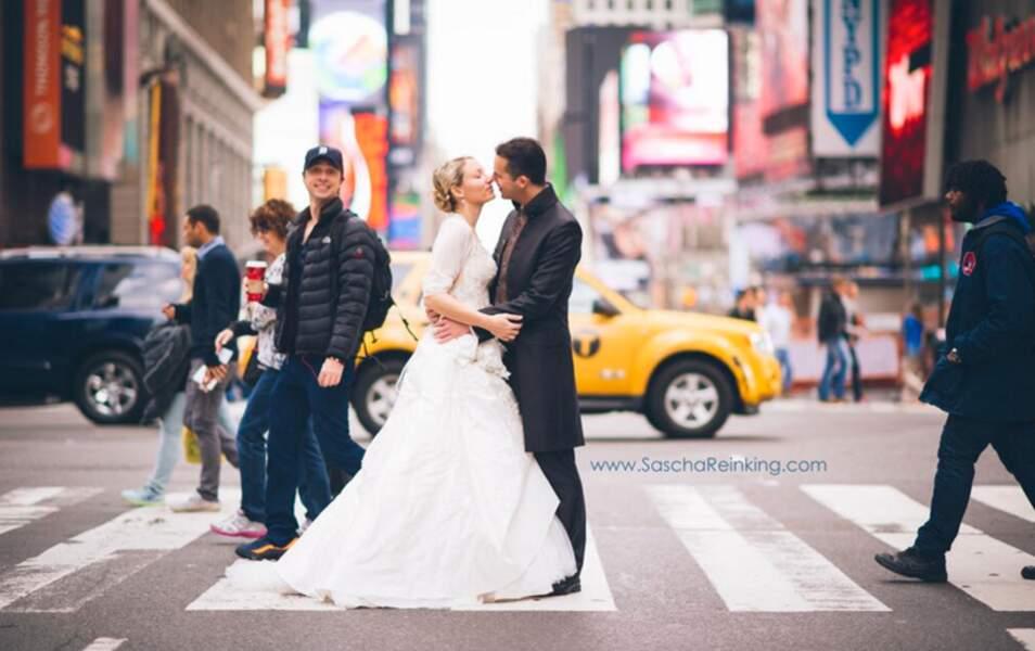 Une photo de mariage avec Zach Braff (Scrub) : ce couple new-yorkais se souviendra longtemps de ce jour...
