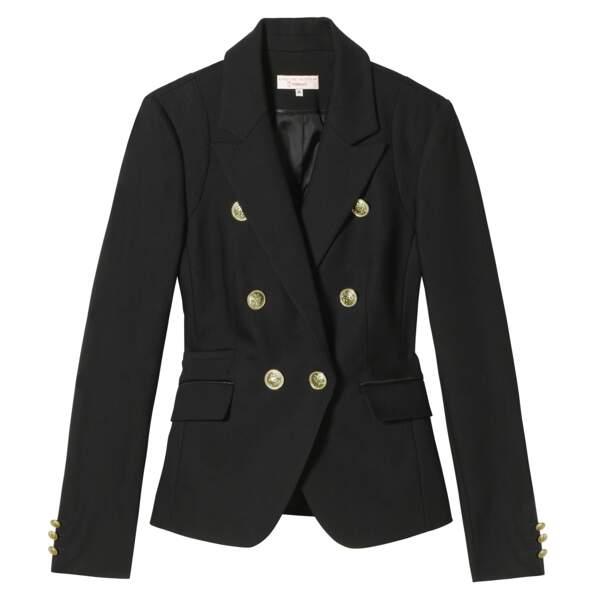 Caroline Receveur x Morgan : blazer style officier, 130 euros