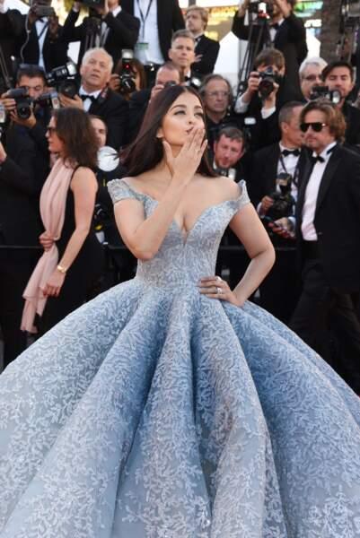 Aishwarya Rai dans sa robe de princesse en 2017