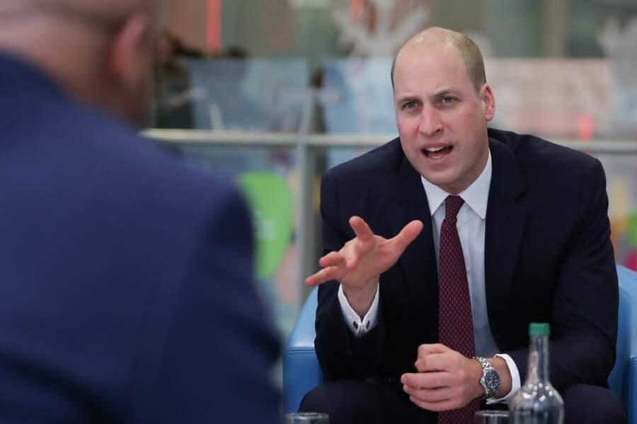 Le prince William en visite à l'hôpital pour enfants Evelina, le 18 janvier
