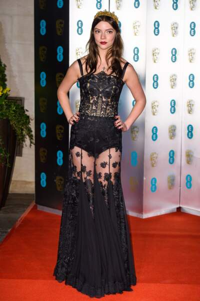 Anya Taylor Joy aux BAFTA Film Awards 2018 à Londres, le 18 février