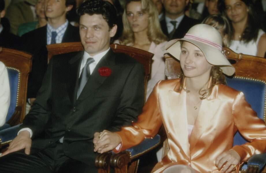 Mariage de Marc Lavoine et Sarah Poniatowski le 16 mai 1995