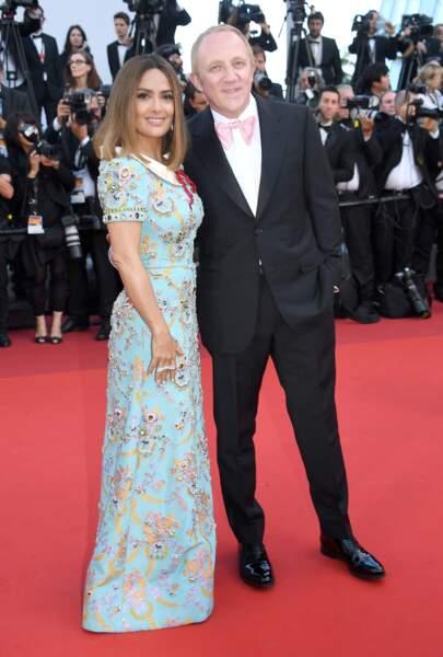 Cannes - Montée des Marches pour le 70ème anniversaire : Francois-Henri Pinault & Salma Hayek