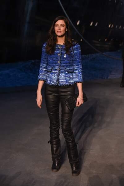 Anna Mouglalis au défilé Chanel croisière 2018, le 3 mai au Grand Palais