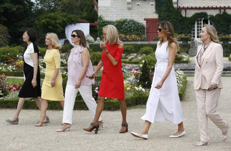 Brigitte Macron et les premières dames au pays basque, dimanche 25 août
