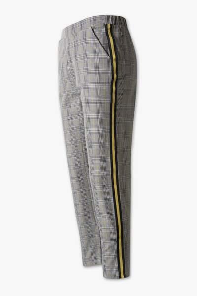 Pantalon palazzo à carreaux et bande contrastante, C&A, 19€