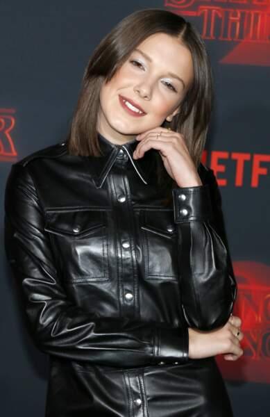 Millie Bobby Brown au lancement de la saison 2 de Stranger Things en 2017