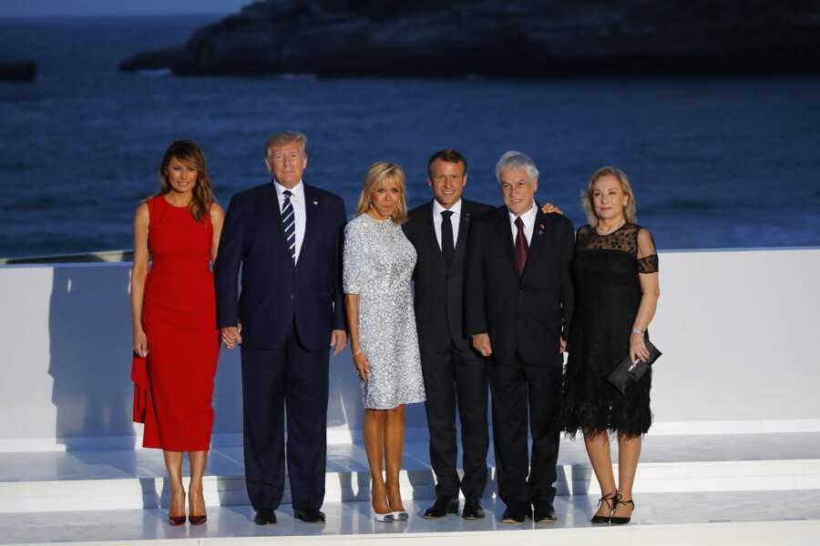 Photo de famille de la 45ème édition du G7, à Biarritz dimanche 25 août