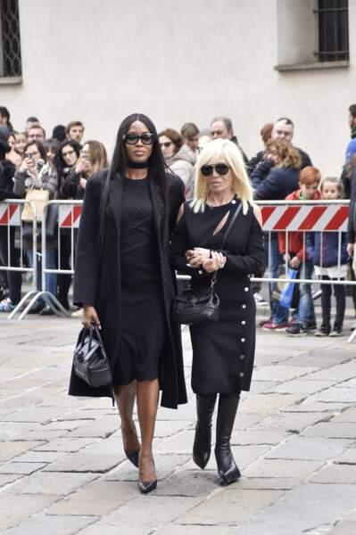 Messe hommage à Franca Sozzani : Naomi Campbell et Donatella Versace