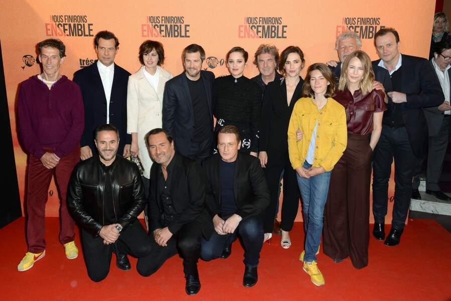 Toute la bande du film de Guillaume Canet réunie pour l'avant-première de Nous finirons ensemble à Paris