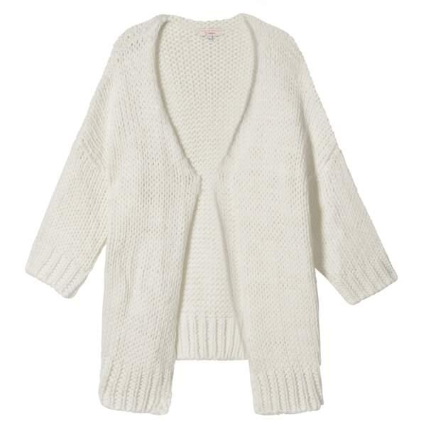 Caroline Receveur x Morgan : gilet kimono en maille, 90 euros