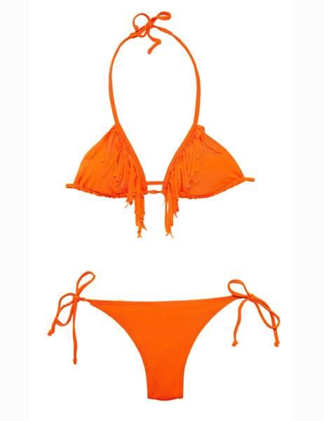 Bikini frangé, 10€ le haut et 10€ le bas (Kiabi)