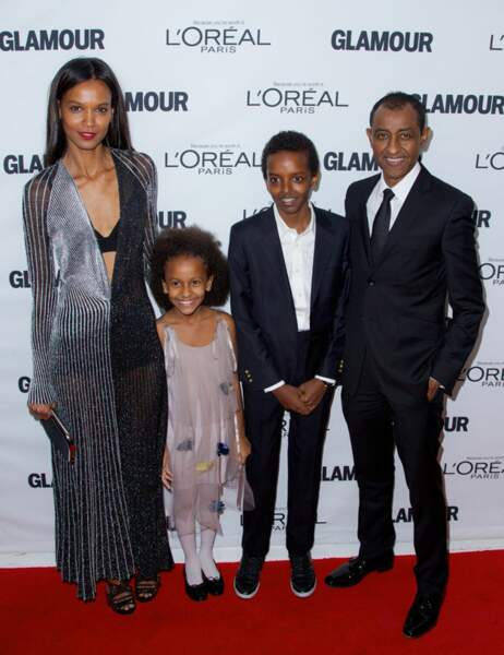 Liya Kebede en famille avec son époux Kassy Kebede et leurs deux enfants