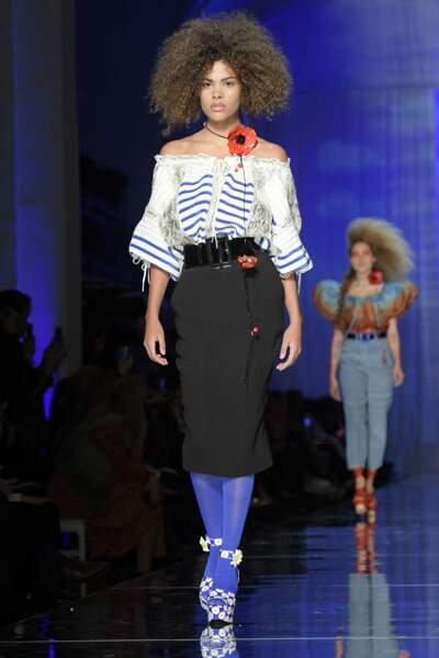 Tina Kunakey était ravissante dans sa tenue signée Gaultier