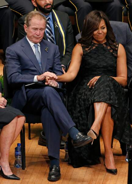 George W. Bush et Michelle Obama sont devenus inséparables