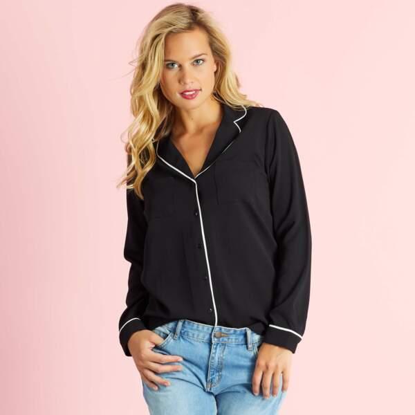 15 pièces modes à shopper chez Kiabi : Chemise pyjama de jour, 14,40 euros au lieu de 18 euros