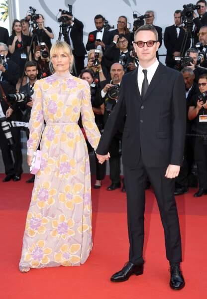 Cannes - Montée des Marches pour le 70ème anniversaire :   Liv Corfixen & Nicolas Winding Refn