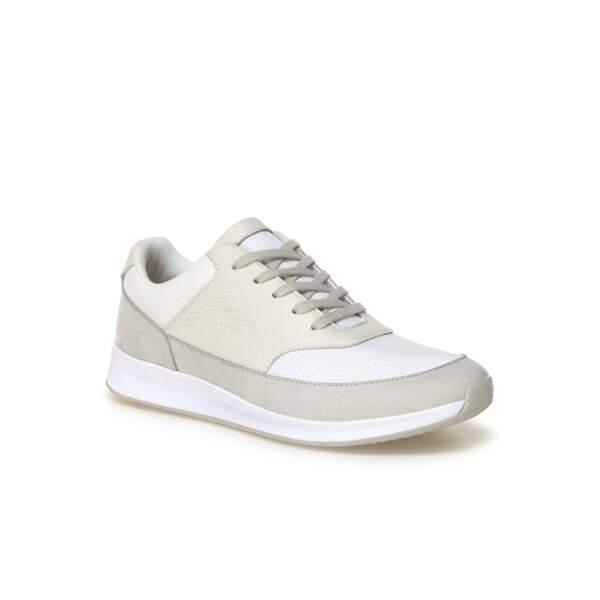 Sneakers Chaumont en mélange de matières, Lacoste, 57 euros au lieu de 115 euros
